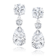 Round and Pear 7.50 Carat, 14K Drop Earrings