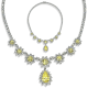 Pear and Round 33.14 Carat, 14K Necklace