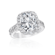 Oval Cushion 3.50 Ct. 14K Ring