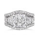 Cushion Cut 3.5 Carat, 14K Wedding Ring Set