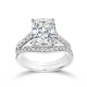 Oval Cushion 3.5 Carat, 14K Wedding Ring Set