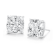 Cushion Cut 3.0 Carat, 14K Stud Earrings