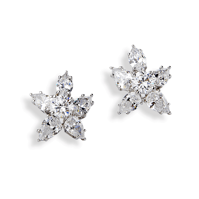 Pear and Marquise 12.60 Carat, 14K Dressy Earrings