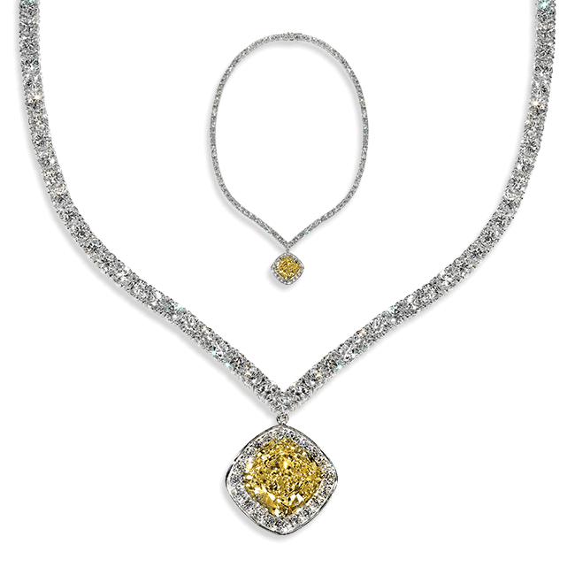 Cushion Cut 12.0 Carat, 14K Necklace