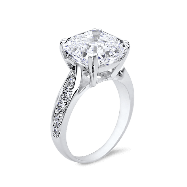 Asscher Cut 8.0 Ct. 14K Ring