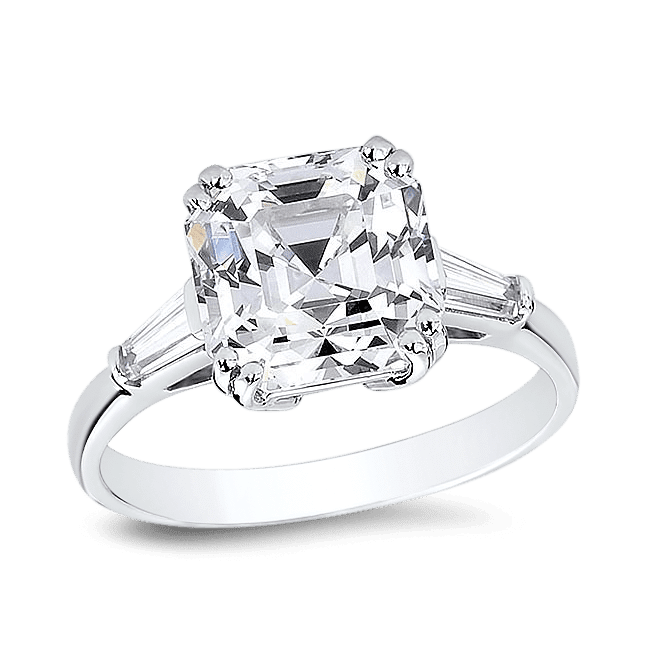 Asscher Cut 3.0 Ct. 14K Ring