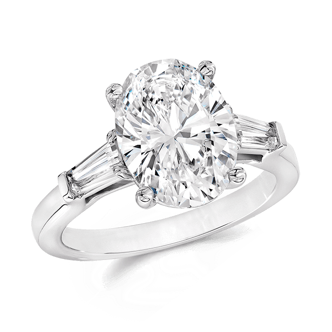Oval 4.0 Ct. 14K Ring