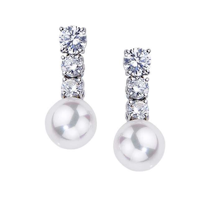 Round 1.80 Carat, 14K Drop Earrings