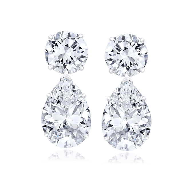 Round and Pear 24.0 Carat, 14K Dressy Earrings