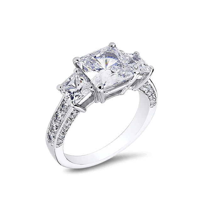 Princess Cut 2.5 Ct. 14K Ring