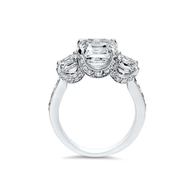 Asscher Cut 3.5 Ct. 14K Ring