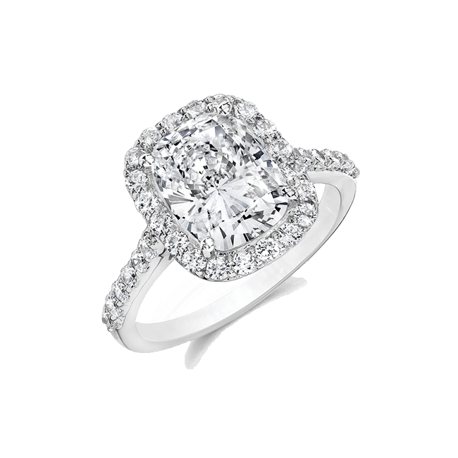 Oavl Cushion 2.5 Ct. 14K Ring