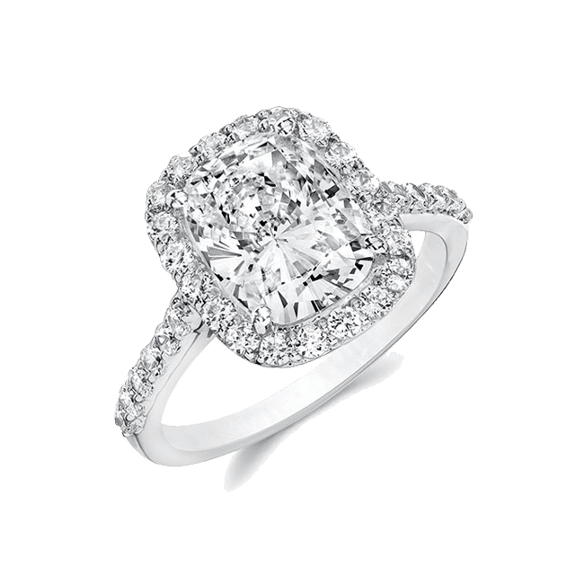 Oval Cushion 2.0 Ct. 14K Ring