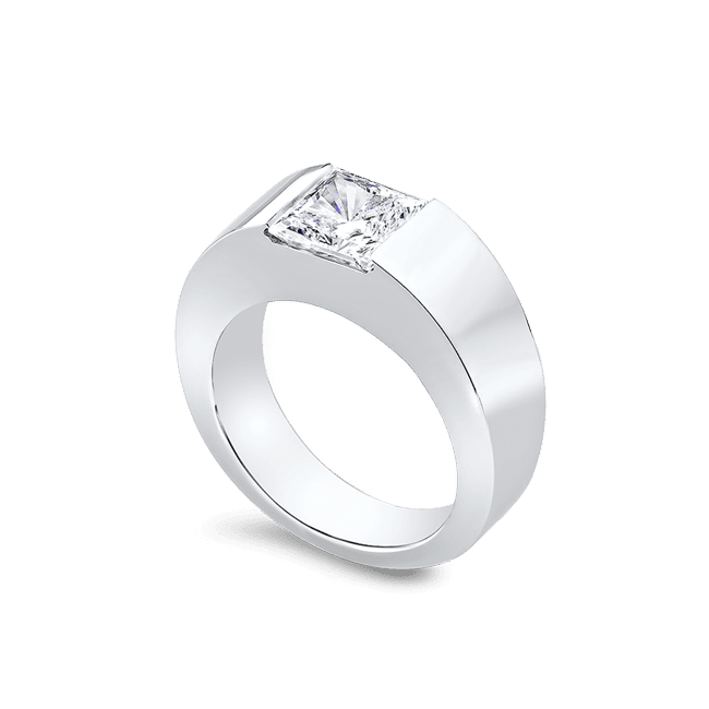 Princess Cut 2.5 Carat, 14K Men's Ring