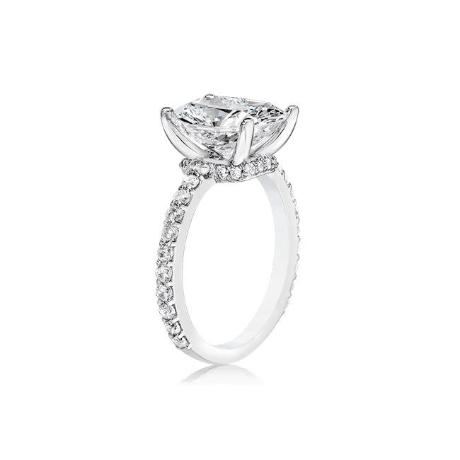 Oval Cushion 3.0 Ct. 14K Ring