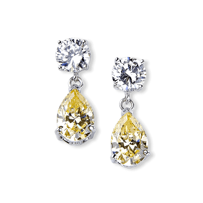 077519d737eb1 Round and Pear 6.0 Carat, 14K Drop Earrings