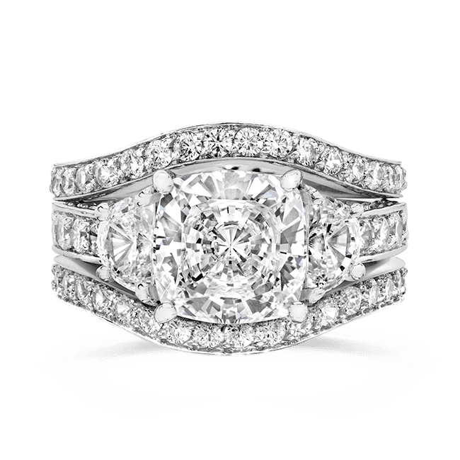 b8e99414c36abd Cubic Zirconia Rings | 3.5 Ct. Cushion Cut 14K Wedding Set | R7557W