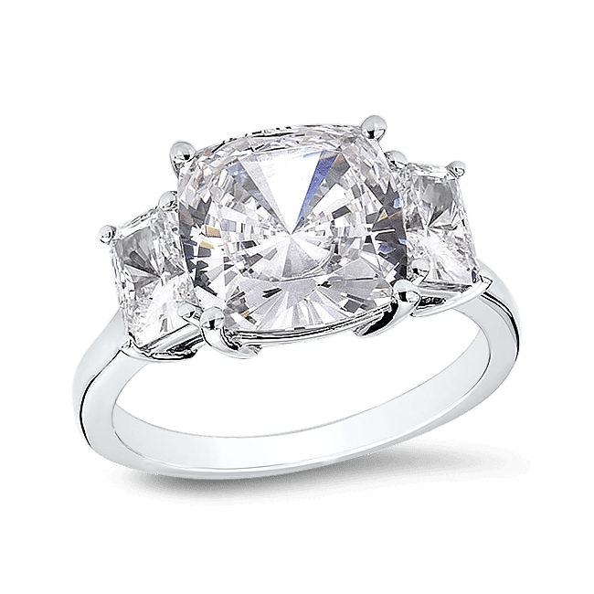 Cushion Cut 4 5 Ct 14k Ring