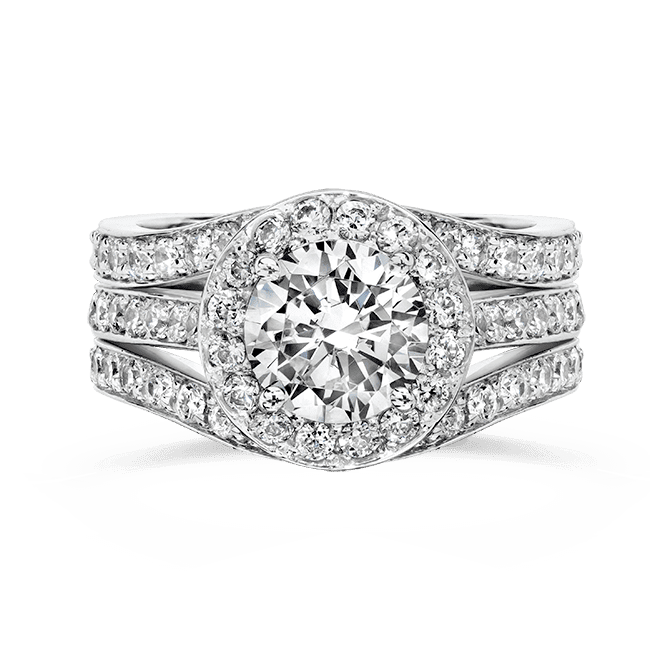 Cubic Zirconia Rings 1 5 Ct Round 14k Wedding Set R7555w