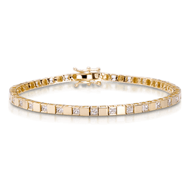 Princess Cut 2.0 Carat, 14K Bracelet