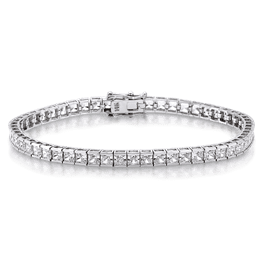 Princess Cut 7.75 Carat, 14K Bracelet