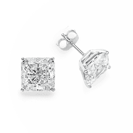 Princess Cut 4.0 CTW, 14K Stud Earrings