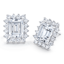 Emerald Cut 3.0 Carat, 14K Dressy earrings