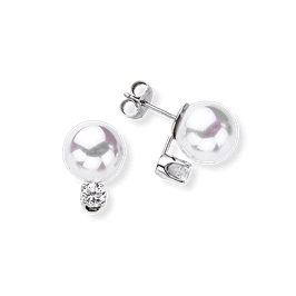 Pearl 10.0 mm, 14K Drop Earrings