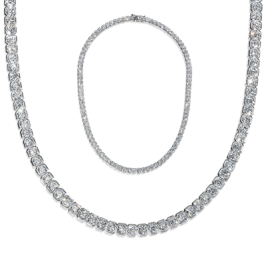 Radiant Square 29.0 Carat, 14K Necklace