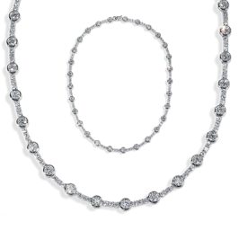 Round 13.95 Carat, 14K Necklace