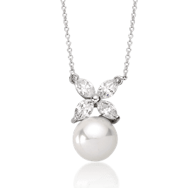 Pearl 10.0 mm, 14K Fancy Pendant