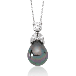 Round and Marquise 1.0 Carat, 14K Fancy Pendant