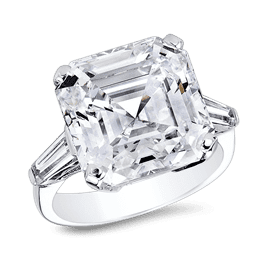 Asscher Cut 11.0 Ct. 14K Ring