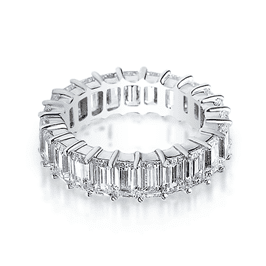 Emerald Cut 7.0 Carat, 14K Wedding Band