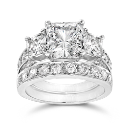 Princess Cut 2.5 Carat, 14K Wedding Ring Set
