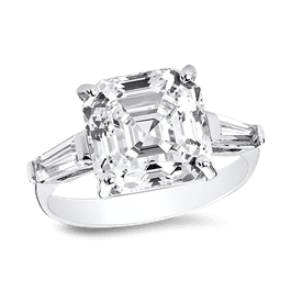 Asscher Cut 5.0 Ct. 14K Ring