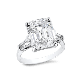 Emerald Cut 6.0 Ct. 14K Ring