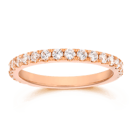 Round 0.60 Carat, 14K Wedding Band