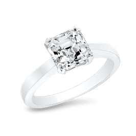 Asscher Cut 1.5 Ct. 14K Ring