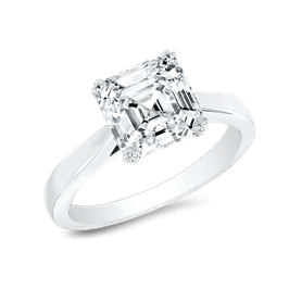 Asscher Cut 2.5 Ct. 14K Ring