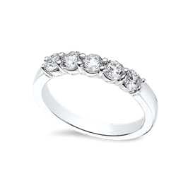 Round 0.75 Carat, 14K Wedding Band