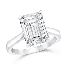 Emerald Cut 4.50 Ct. 14K Ring