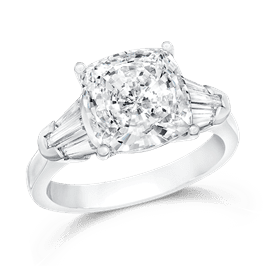 Cushion Cut 4.0 Ct. 14K Ring