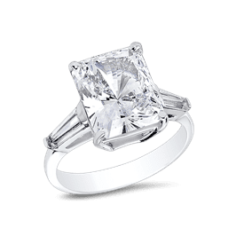 Radiant Cut 4.0 Ct. 14K Ring