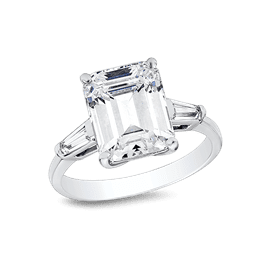 Emerald Cut 3.0 Ct. 14K Ring
