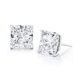 Princess Cut 7.0 CTW, 14K Stud Earrings
