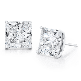 Princess Cut 5.0 CTW, 14K Stud Earrings