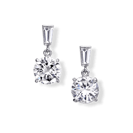 Round 2.0 Carat, 14K Drop Earrings