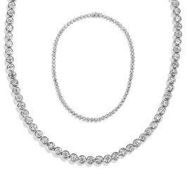 Round 19.25 Carat, 14K Necklace