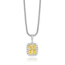 Radiant Cut 3.50 Carat, 14K Fancy Pendant